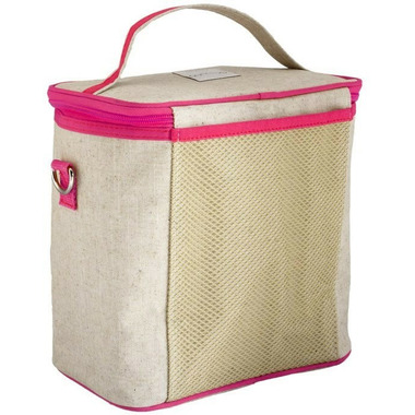 SoYoung Raw Linen Cherry Blossom Large Cooler Bag