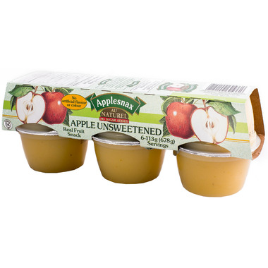 Applesnax Unsweetened Applesauce Cups
