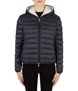 Save The Duck Womens Faux Sheepskin Hooded Jacket Black