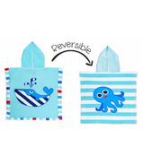 Flapjack Kids Reversible Cover Up Whale & Octopus