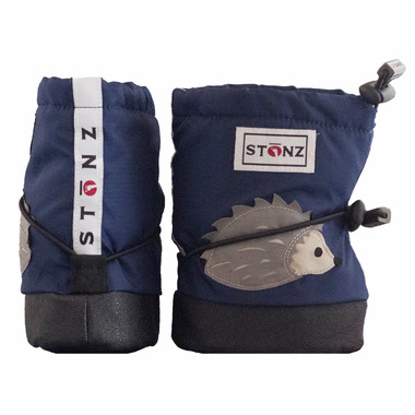 Stonz Navy Hedgehog Infant Booties
