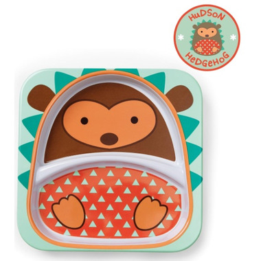Skip Hop Zoo Tableware Melamine Plate Hedgehog