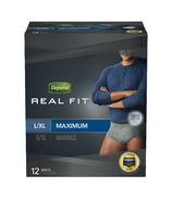 Depend Real Fit Incontinence Underwear for Men Maximum Absorbency L/XL