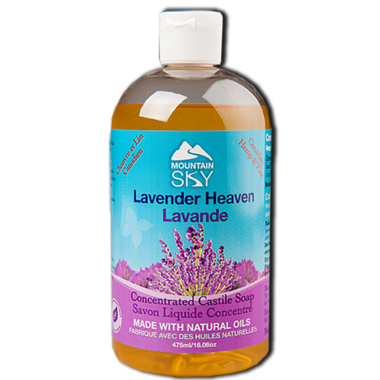 Mountain Sky Lavender Heaven Castile Liquid Soap