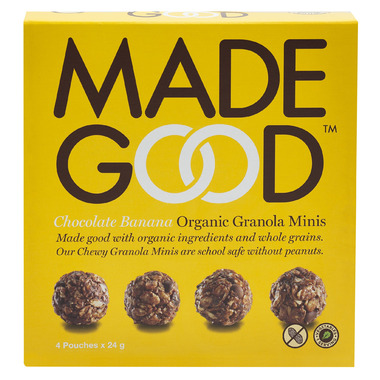 MadeGood Chocolate Banana Organic Granola Minis Snack Packs