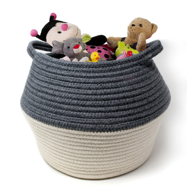 Natural Living Cotton Basket Grey/White