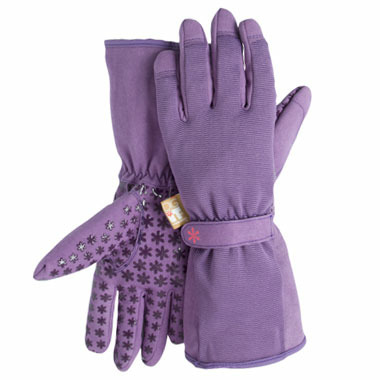 Dig It Apparel High 5 Utility Garden Glove with Extended Cuff Purple