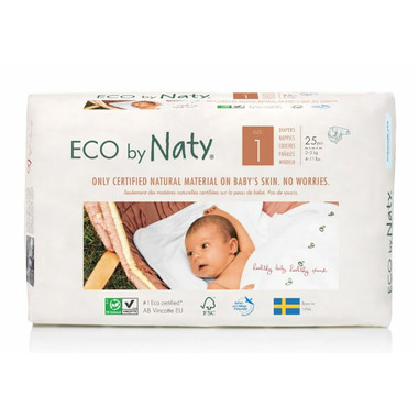 Eco by Naty Size 1 Diapers