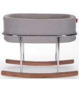 Monte Design Rockwell Bassinet Heather Grey Basket & Walnut Base