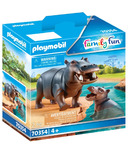 Playmobil Family Fun Hippo with Calf