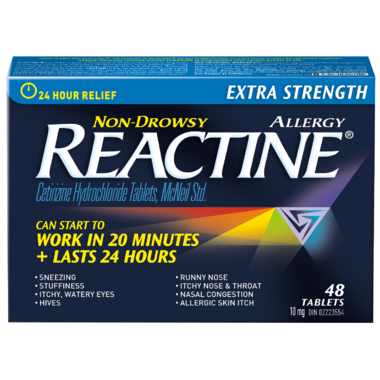 Reactine Extra Strength Reactine 48 Tablets