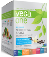 Vega One All-In-One French Vanilla Nutritional Shake Singles Box