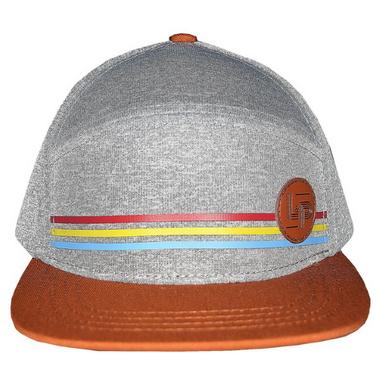 L&P Apparel Portland Snapback Hat Grey & Caramel