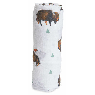 Little Unicorn Cotton Muslin Swaddle Bison
