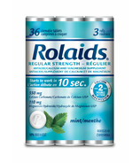 Rolaids Regular Strength Tablets Mint 3 Rolls x 12 Pack