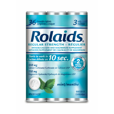 Rolaids Regular Strength Tablets Mint