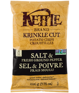 Kettle Krinkle Cut Salt & Fresh Ground Pepper Potato Chips