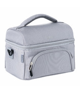 Bentgo Deluxe Insulated 2-Compartment Lunch Tote Grey