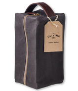 Olivina Men Travel Bag Charcoal Waxed Canvas