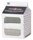 Now Designs Milk Carton Dishcloth Set London, White & Grey