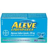 Aleve 220 mg Liquid Gels Large Bottle