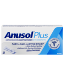Anusol Plus Hemorrhoidal Suppositories