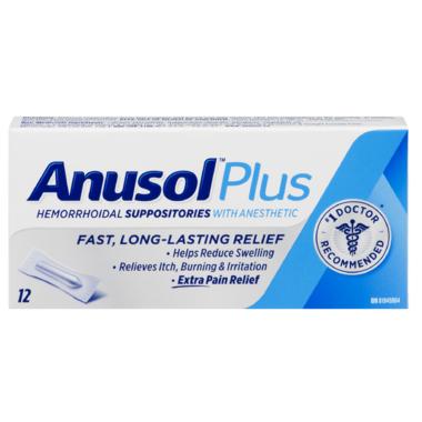Anusol Plus Hemorrhoidal Suppositories
