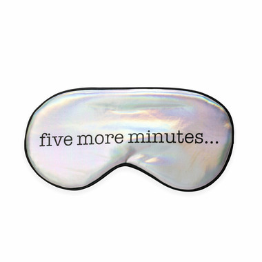 Kikkerland Ultra Soft Sleep Mask Five More Minutes