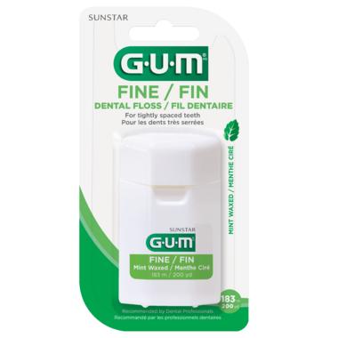 GUM Fine Waxed Dantal Floss Mint