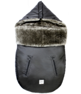 7 A.M. Enfant LambPOD Footmuff Waxed Black 18M-3Y