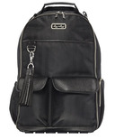 Itzy Ritzy Boss Backpack Black Herringbone