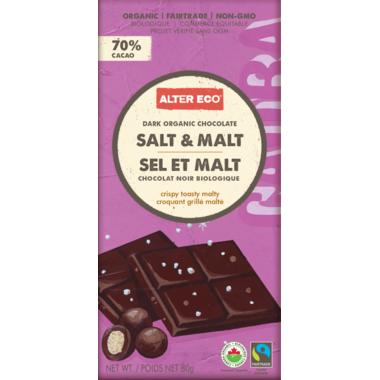 Alter Eco Dark Organic Chocolate Salt & Malt