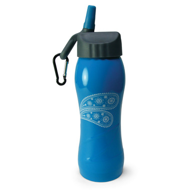 Gaiam Blue Paisley Dream Stainless Steel Water Bottle