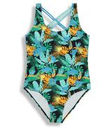 BIRDZ Children & Co. Onepiece Black Jungle Swimsuit