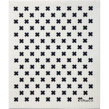 Ten & Co. Swedish Sponge Cloth Tiny X Black