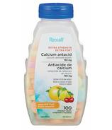 Rexall assortiment d'antiacides aux fruits à mâcher extra fort 750mg