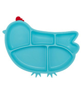Innobaby Silicone Suction Chicken Plate Blue