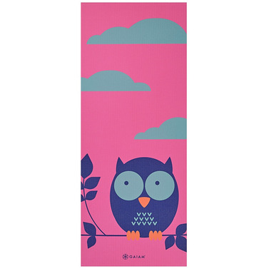Gaiam Kids 3mm Printed Yoga Mat Owl