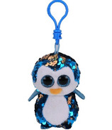 Ty Flippables Payton the Blue Penguin Sequin Clip