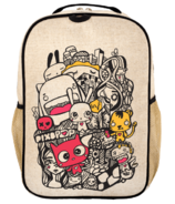 SoYoung x Pixopop Raw Linen Pishi and Friends Grade School Backpack