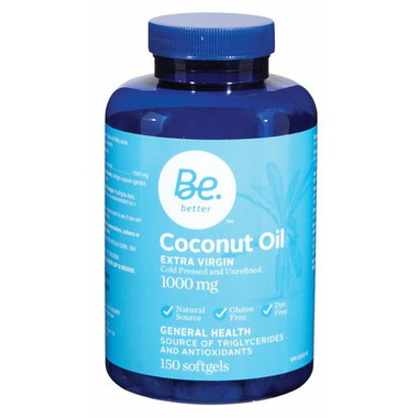 Be Better Organic Coconut Oil Softgels
