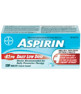 Aspirin 81mg Daily Low Dose Medium Bottle