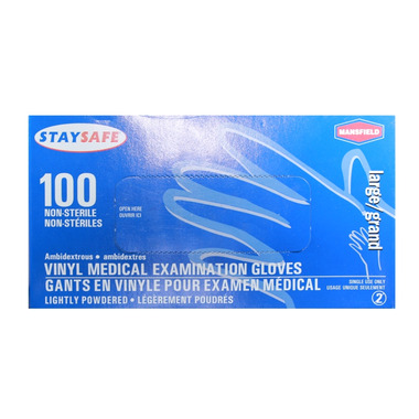 Mansfield StaySafe Vinyl Exam Gloves