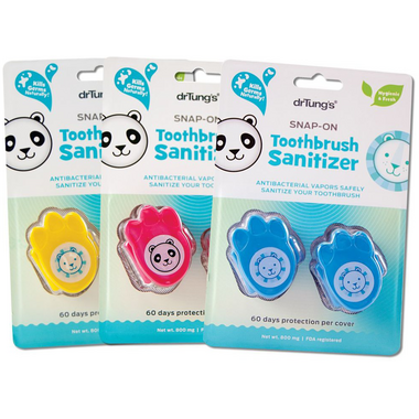 Dr. Tung\'s Kids\' Snap-On Toothbrush Sanitizers