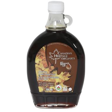 Canadian Heritage Organics Very Dark Maple Syrup