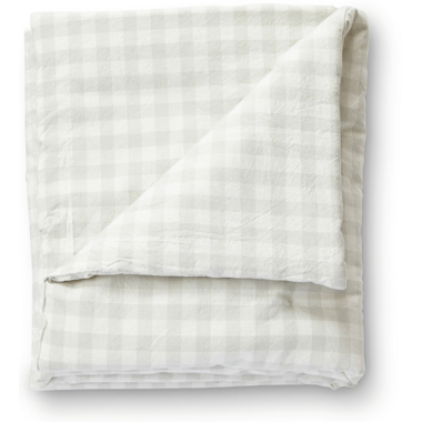 Petit Pehr CheckMate Toddler Blanket Fog