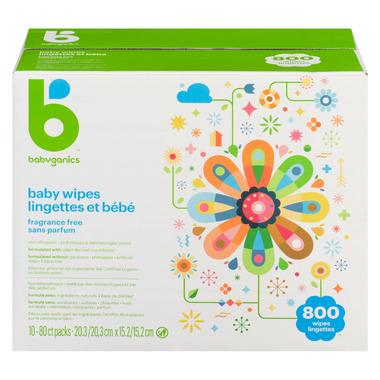 Babyganics Baby Wipes Fragrance Free Bulk Pack