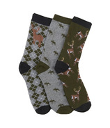 Hatley Men's Crew Socks Set Lots Of Bucks