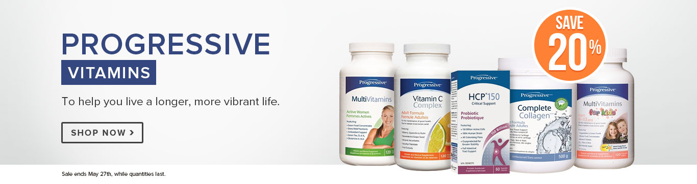 Save 20% on All Progressive Vitamins