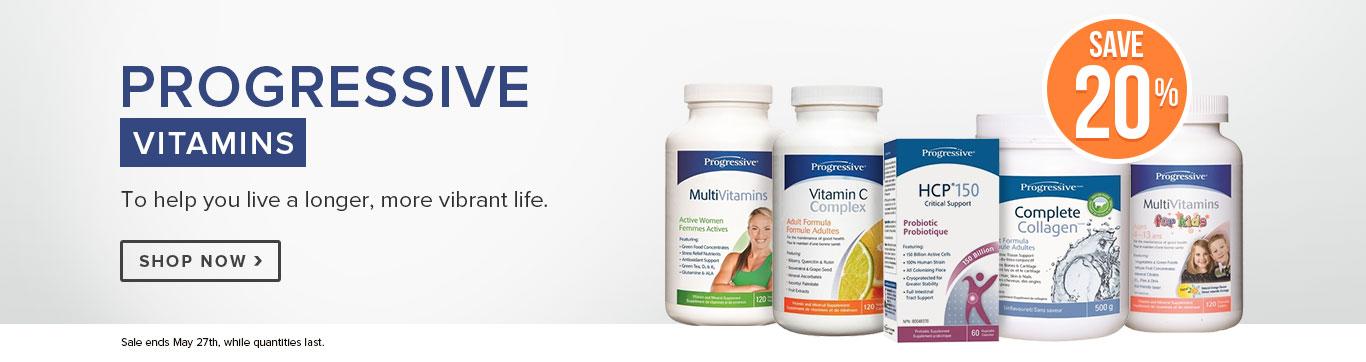 Save 20% on All Progressive Vitamins